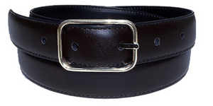Reversible Leather Belt-Black/Navy