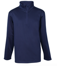 Load image into Gallery viewer, STL 1/4 Zip Microfiber Sweatshirt-Navy