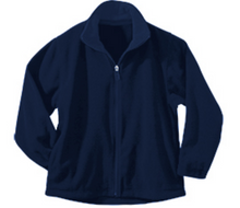 Load image into Gallery viewer, St Mary McCormick Unisex Micro Fleece Zip Jacket-Navy