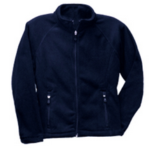 Load image into Gallery viewer, St Mary McCormick Fitted Micro Fleece Zip Jacket-Navy