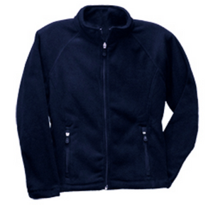 St Mary McCormick Fitted Micro Fleece Zip Jacket-Navy