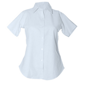 Girls Short Sleeve Oxford-Lt. White