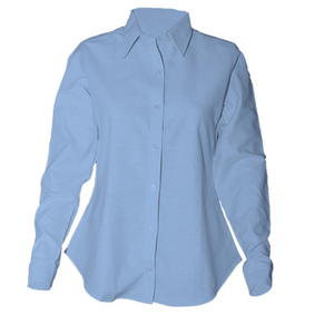 Girls Long Sleeve Fitted Oxford