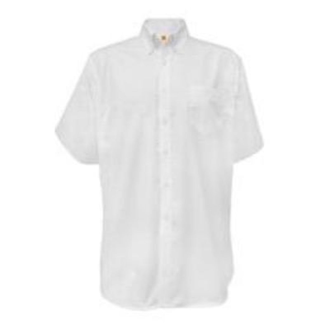 Boys Short Sleeve Oxford-White