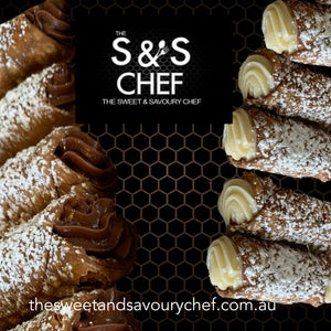 Mix Chocolate and Vanilla Bean Cream Patissiere Cannoli