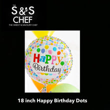 Load image into Gallery viewer, Happy Birthday Poka Dots 18inch Filled with Helium