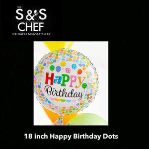 Happy Birthday Poka Dots 18inch Filled with Helium
