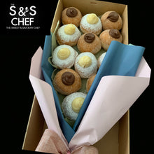 Load image into Gallery viewer, Mix Vanilla Bean & Nutella Doughnut Bouquet