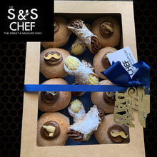 Load image into Gallery viewer, Father's Day Gift Box - 8 Doughnuts & 6 Cannoli Mix
