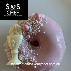 Glazed Catering Pack Doughnuts- Glazed Baby Pink or Baby Blue