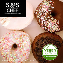 Load image into Gallery viewer, Iced Vegan Certified  Doughnuts Box of 4 - Large Doughnuts