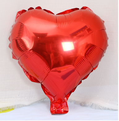 25cm Red Foil Heart Balloon On Stick