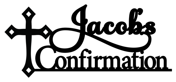 Jacob- Personalised Cake Topper Pre-Styled Ready to Cut