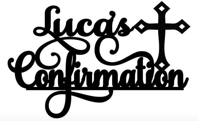 Luca Personalised Cake Topper Pre-Styled Ready to Cut