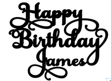 Load image into Gallery viewer, James Personalised Cake Topper Pre-Styled Ready to Cut
