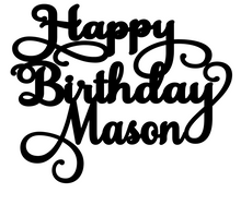 Load image into Gallery viewer, Mason Personalised Cake Topper Pre-Styled Ready to Cut