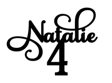Load image into Gallery viewer, Natalie Personalised Cake Topper Pre-Styled Ready to Cut