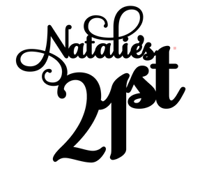 Natalie Personalised Cake Topper Pre-Styled Ready to Cut