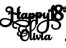 Load image into Gallery viewer, Olivia Personalised Cake Topper Pre-Styled Ready to Cut