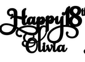 Olivia Personalised Cake Topper Pre-Styled Ready to Cut