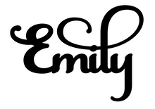 Load image into Gallery viewer, Emily Personalised Cake Topper Pre-Styled Ready to Cut