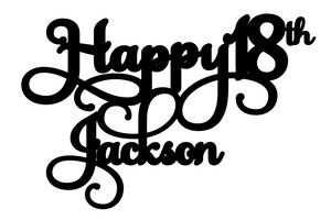 Jackson-  Personalised Cake Topper Pre-Styled Ready to Cut
