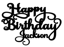 Load image into Gallery viewer, Jackson-  Personalised Cake Topper Pre-Styled Ready to Cut