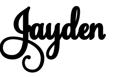 Jayden  Personalised Cake Topper Pre-Styled Ready to Cut