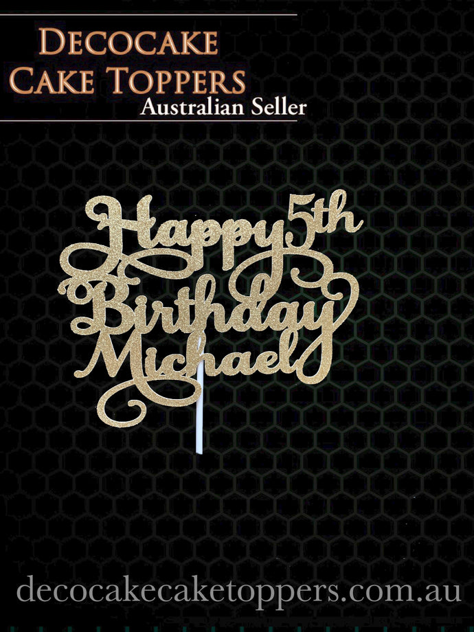 Happy Birthday - Personalised With Age
