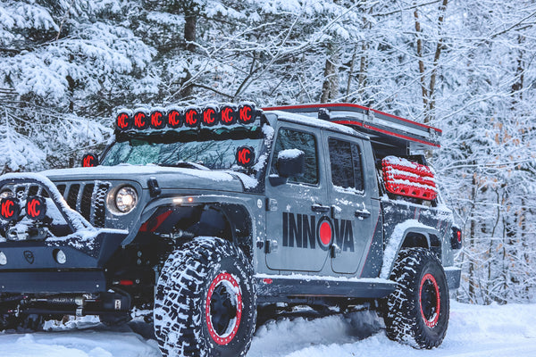 Innova Electronics Tips for Winter Driving   Dr. Death Wobble Jeep Gladitor with KC HiLites and BFGoodrich Tires