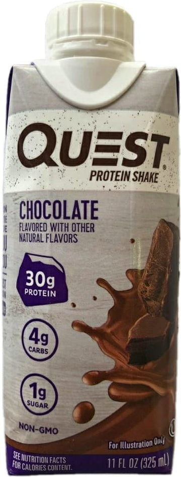 Malteada de Proteína QUEST, Chocolate x 325 ml