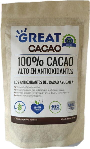 Cacao en Polvo Great Cacao x 150 g.