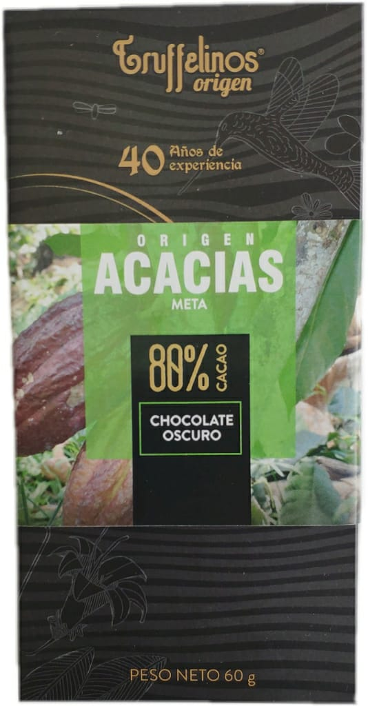 TABLETA CHOCOLATE OSCURO TRUFFELINOS 80% x 60 g.