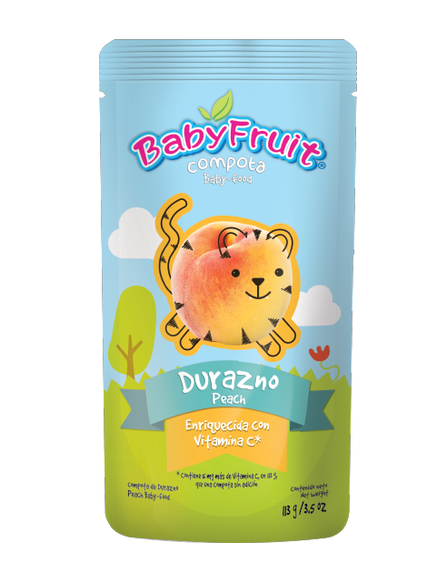 Compota BabyFruit Durazno, Empaque Flexible x 113 g