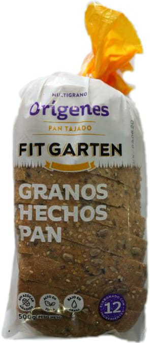 Pan Orígenes Multigrano, Fit Garten x 500 g.