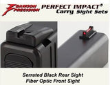 Dawson Tactical Carry Sight Set - Target Rear with Fiber Optic Front