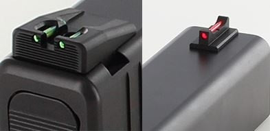 Glock 43 Fiber Optic Front and Rear Carry Sight Set