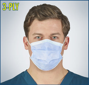 Disposable Face Mask | Level 1 | 3 Ply | 50 Masks Per Box |