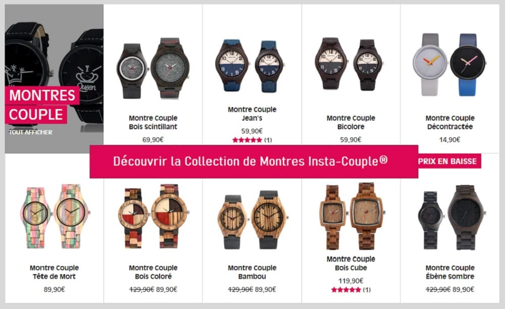 Collection Montres Insta-Couple