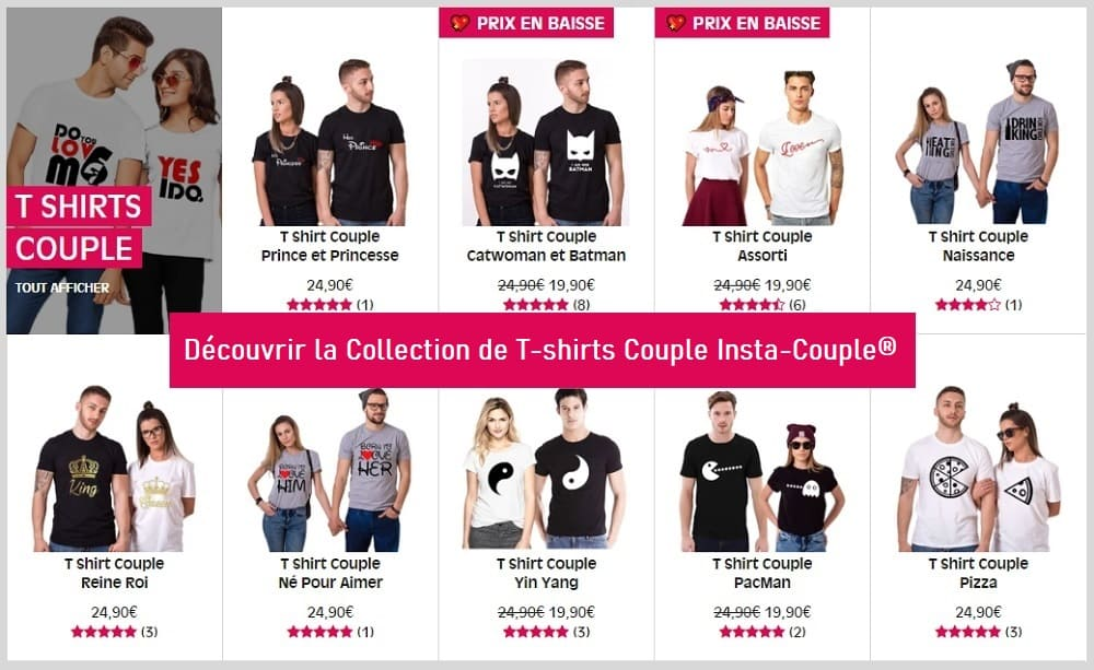 Collection T- shirts Couple Insta-Couple
