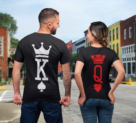 Tee Shirt Couple King and Queen