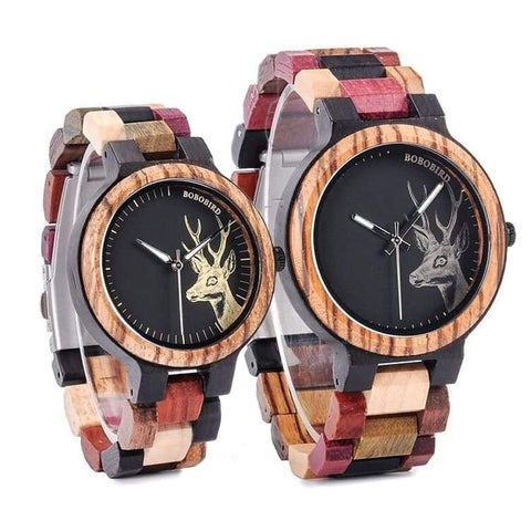 Montre Couple Multicolor vue de face Insta-couple La Boutique du Couple