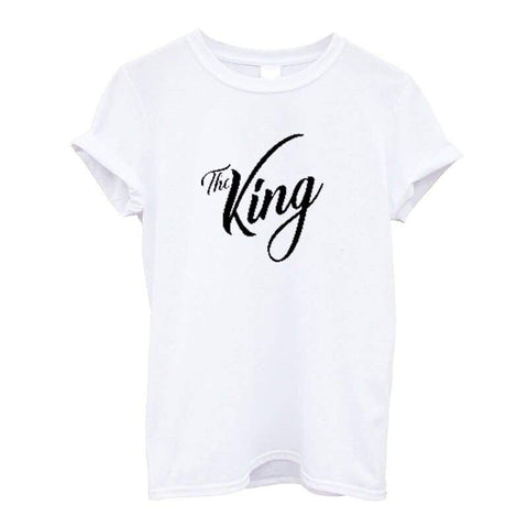 T Shirt Couple The King and His Queen pour Homme Insta Couple la Boutique de tous les Couples
