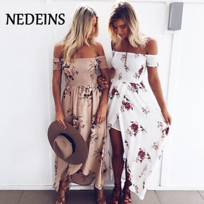 NEDEINS Sexy floral Backless Dress