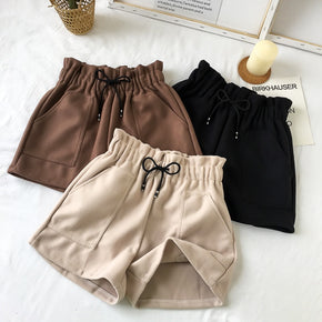 Women Shorts Autumn and Winter High Waist Shorts