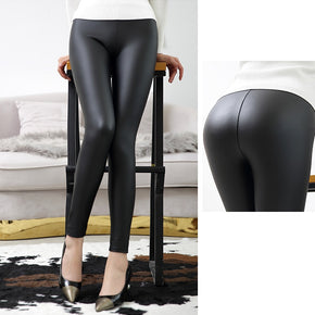 Everbellus High Waist Leather Leggings for Women