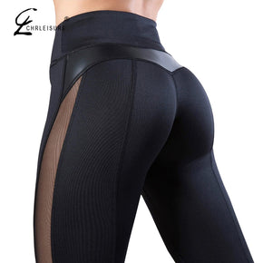 CHRLEISURE High Waist Fitness Legging Women Heart Workout Leggins