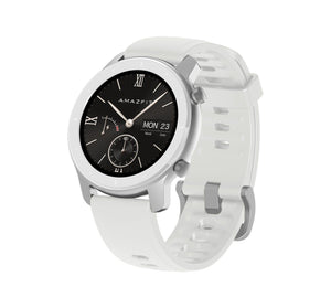 Amazfit GTR 42mm with 26 PPI AMOLED Display smartwatch amazfit.india Moonlight White
