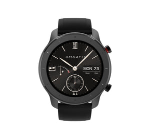 Amazfit GTR 42mm with 26 PPI AMOLED Display smartwatch amazfit.india Starry Black