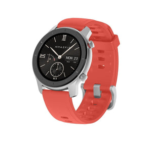 Amazfit GTR 42mm with 26 PPI AMOLED Display smartwatch amazfit.india Coral Red